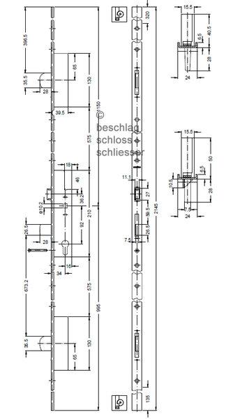 sch co 211 397 211397 schwenkriegel schloss. Black Bedroom Furniture Sets. Home Design Ideas