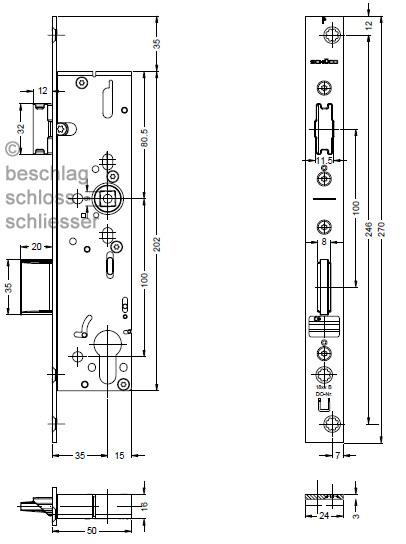 sch co 241 611 riegel fallen schloss ads antipanikfunktion b. Black Bedroom Furniture Sets. Home Design Ideas