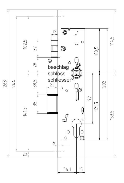 bks 1826 rohrrahmenschloss antipanikfunktion e u stulp. Black Bedroom Furniture Sets. Home Design Ideas