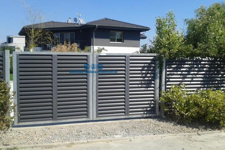 Aluminium Paneel Zaun Sichtschutz H 1 0 M B 2 0 M