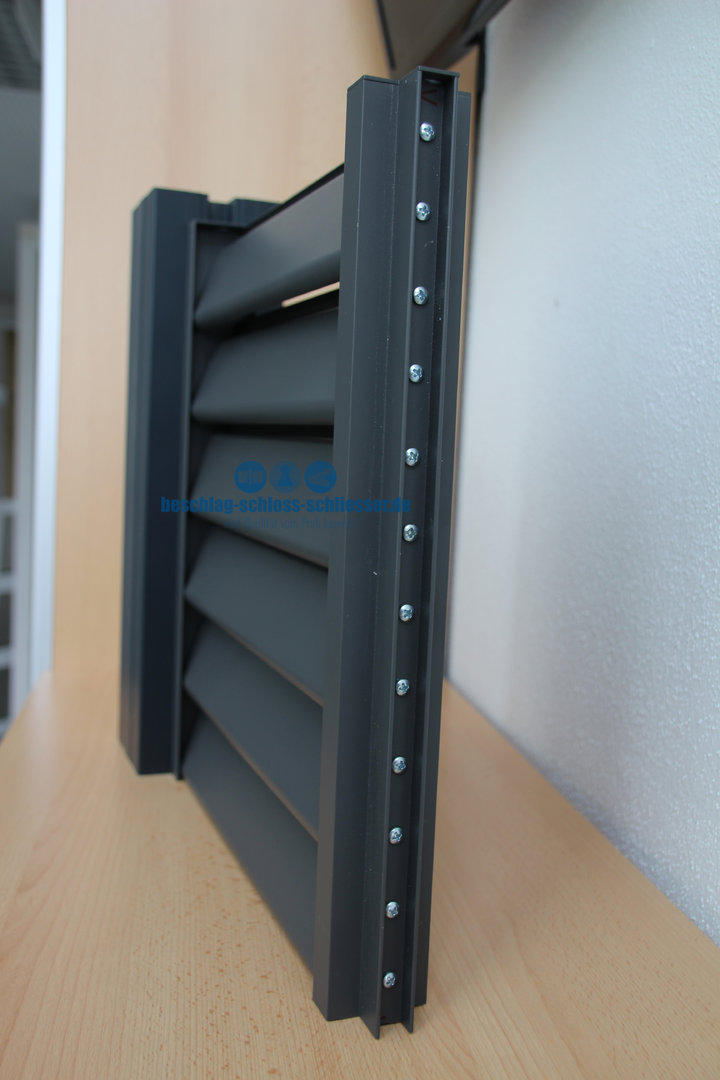 Aluminium Lamellen Zaun Sichtschutz H 1 0 M B 2 0 M