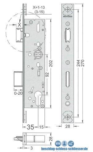 sch co 241 884 241884 einfallen riegelschloss panik e sv. Black Bedroom Furniture Sets. Home Design Ideas