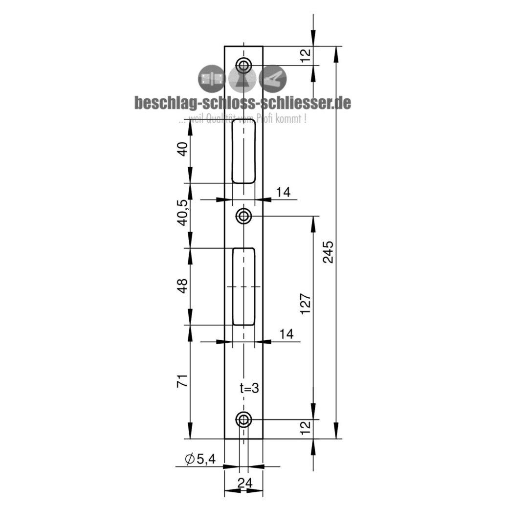 wilka 9306 flachstulp schliessblech 24 mm. Black Bedroom Furniture Sets. Home Design Ideas
